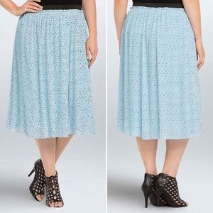 Torrid Star Frenzy Printed Pleated Chiffon Skirt